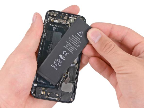 замена аккумулятора на iphone 5 с